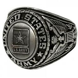 Deluxe US Army Insignia Ring
