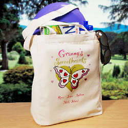 Butterfly Sweethearts Personalized Canvas Tote Bag