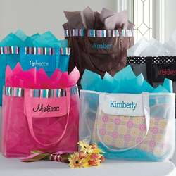 Personalized Mesh Bridesmaid Totes