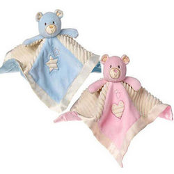 Thready Teddy Bear Security Blanket
