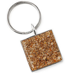 Custom Beach Sand Key Chain