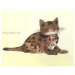Wiley Kat Personalized Art Print
