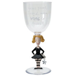 Hocus Pocus Witch Wine Glass with Charm