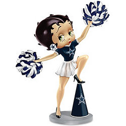 Betty Boop Dallas Cowboys Handbell Figurine