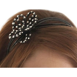 Cute and Sweet Bedazzled Flower Plastic Headband