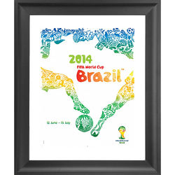 2014 FIFA World Cup Poster Framed Print