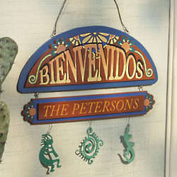 Personalized Southwestern Welcome Door Sign