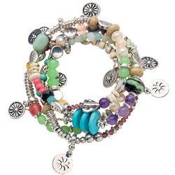 Charming Flowers Stretch Bracelet