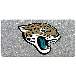 Jacksonville Jaguars Glitter License Plate