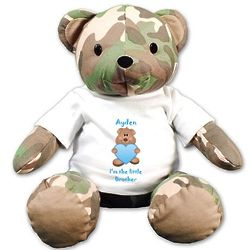 """Personalized Brother 12"""" Camo Teddy Bear"""