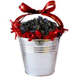 Medium Chocolate Coal Filled Tin Bucket