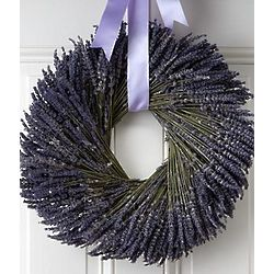 Preserved Love and Lavender Wreath