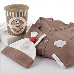 """Sweet Dreamzzz"" A Pint of PJ's Sleep-Time Gift Set in Chocolate"