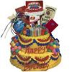 Happy Birthday Cake Gift Bag Tote