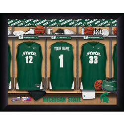 Personalized Michigan State Basketball Locker Room Print