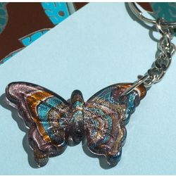 Murano Art Deco Collection Butterfly Keychain