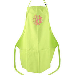 Personalized Adult Sized Lime Apron