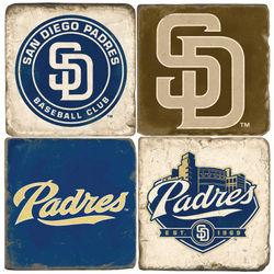San Diego Padres Tumbled Italian Marble Coasters