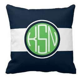 Monogrammed Newport Pillow