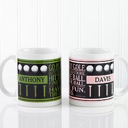 Go Play Golf Personalized Coffee Mug
