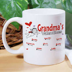 Cupid Hearts Personalized Coffee Mug