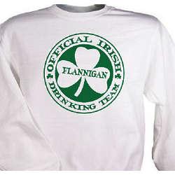 Irish Drinking Team Personalized Sweatshirt