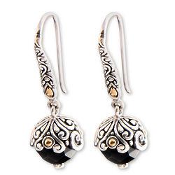Denpasar Belle Onyx Dangle Earrings