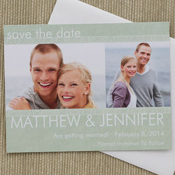 Simply Timeless Personalized Photo Wedding Save the Date Cards