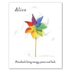 Rainbow Pinwheel Personalized Art Print