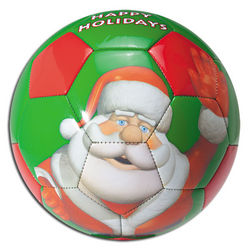 Santa Holiday Soccer Ball