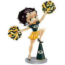 Betty Boop Green Bay Packers Handbell Figurine