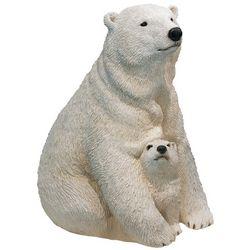 Handpainted Polar Bear and Cub Sculpture