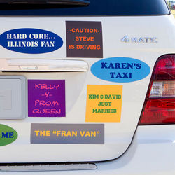 Custom Square Bumper Sticker Magnet