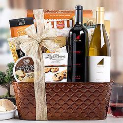 Justin Vineyards Duet Wine Gift Basket
