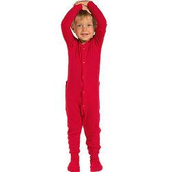 Red Dropseat Toddler Pajamas