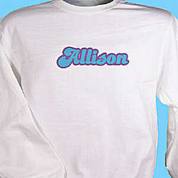 Retro Girl Personalized Youth Sweatshirt