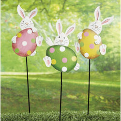 Easter Bunny Yard Stake Set