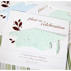 Personalized Designer Graduation Seed Card Favor