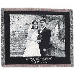 Customized Photo Black Border Blanket