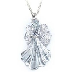 Loving Guardian Angel Granddaughter Crystal Pendant
