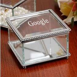 Beveled Glass Jewelry Box