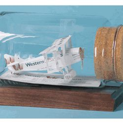 Biplane Airplane Business Card Sculpture