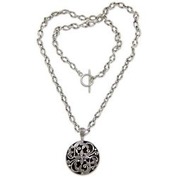 Night Blooming Jasmine Sterling Silver Pendant
