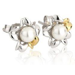 Primrose Pearl Two Tone Stud Earrings