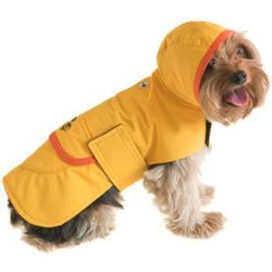 Yellow Waterproof Raincoat for Small Dogs