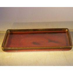 Parisian Red Ceramic Humidity Drip Bonsai Tray
