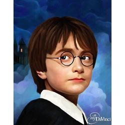 Daniel Radcliffe as Harry Potter Oil Painting Art Print