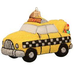 New York Yellow Taxicab Christmas Ornament