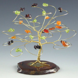 Small Gemstone Tree Sculpture