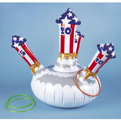 Inflatable Fireworks Ring Toss Game